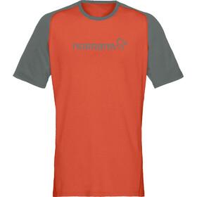 Norrøna Fjørå Equaliser Lightweight T-Shirt Homme, pureed pumpkin